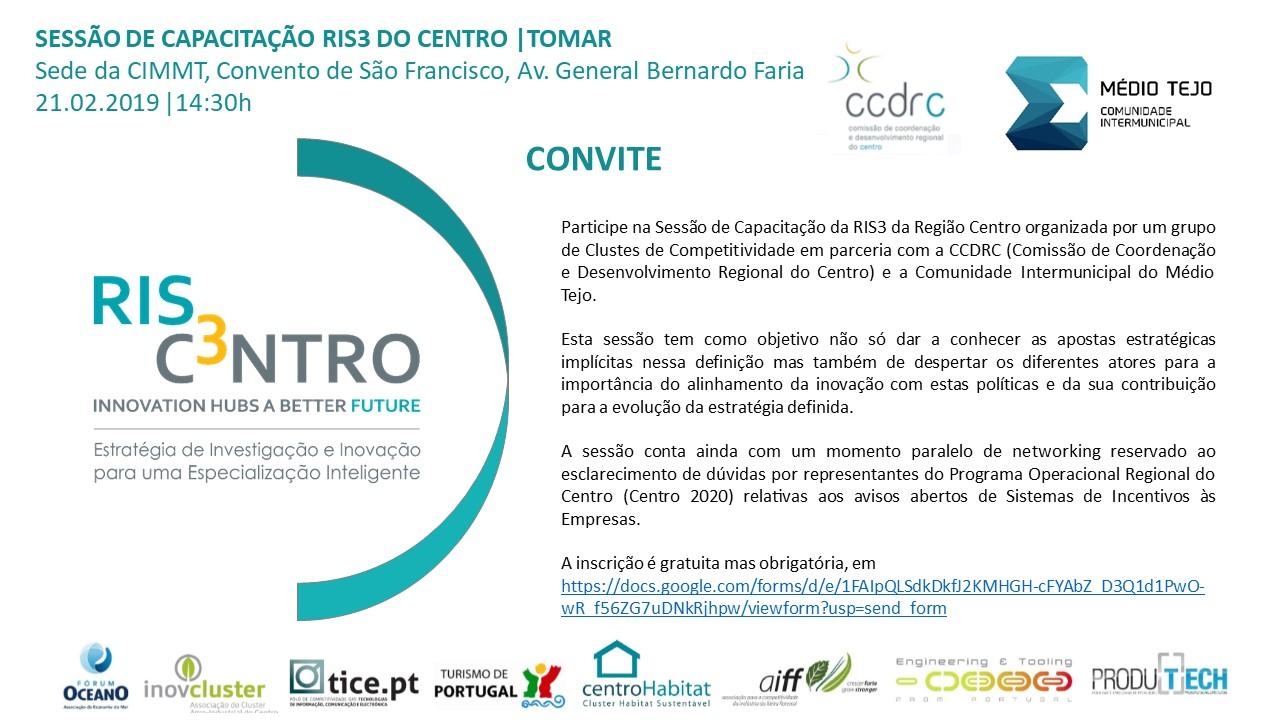 Training Session RIS3 2020 do Centro | Tomar